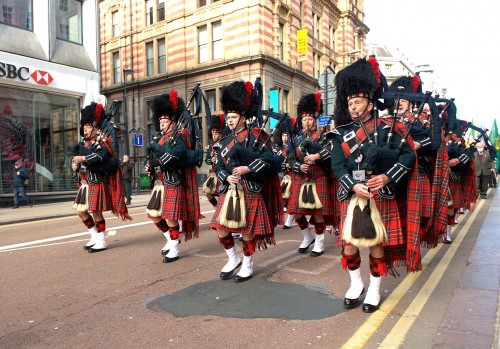 City of Leeds Pipeband on St Patricks Day